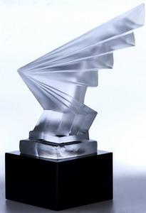 skulptur blitzstrahl ca 185mm bleikristallglas artdeco stil schreiber glas. Black Bedroom Furniture Sets. Home Design Ideas