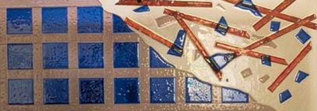 Fused Panel with typical Surface of fused Glass
