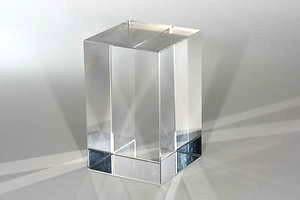 glaskubus optisch rein 40mm x 40mm x 56mm schreiber glas. Black Bedroom Furniture Sets. Home Design Ideas
