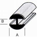 alu gold profil h 8mm x 4mm oval schreiber glas. Black Bedroom Furniture Sets. Home Design Ideas