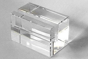 Glasquader Mit Schlitz Optisch Rein Ca 80 X 50 X 50mm