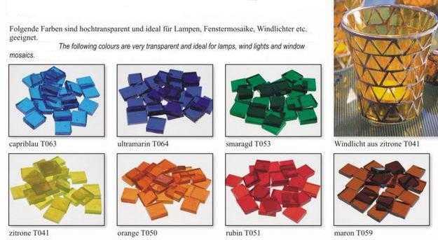 Flachmosaik Aus Transparentem Glas Schreiber Glas
