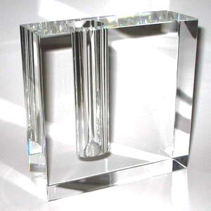 glas vase aus optisch reinem glas schreiber glas. Black Bedroom Furniture Sets. Home Design Ideas
